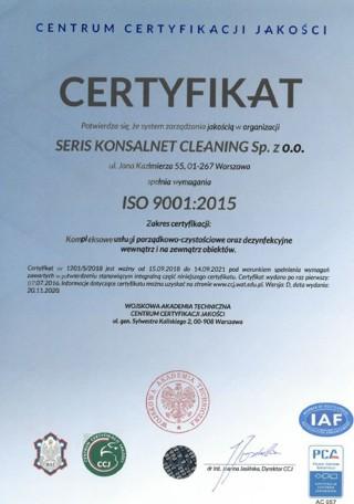 iso 9001_2015 seris konsalnet cleaning - jakość worganizacji