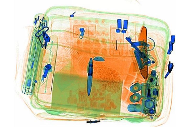 prześwietlenie bagażu urządzeniem rtg