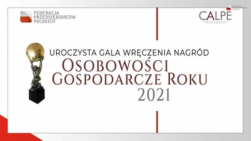 uroczysta gala wręczenia nagród osobowości gospodarcze roku 2021