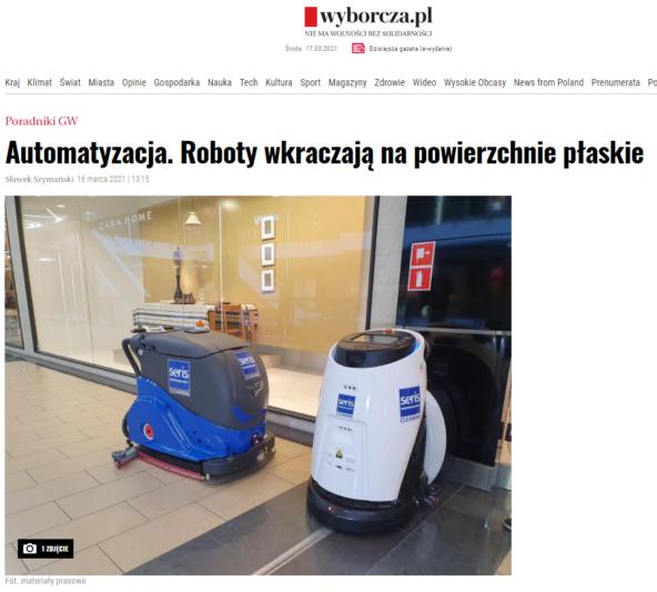 Automatyzacja. roboty wkraczają napowierzchnie płaskie