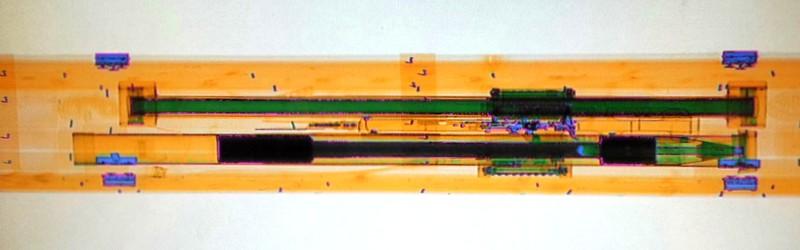 xray - prześwietlenie ładunku nalotnisku